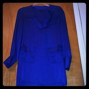 Rachel Zoe navy silk dress